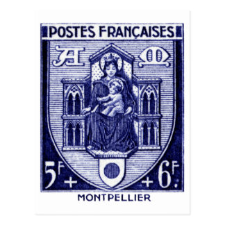 Coat of Arms, Montpellier France Post Card