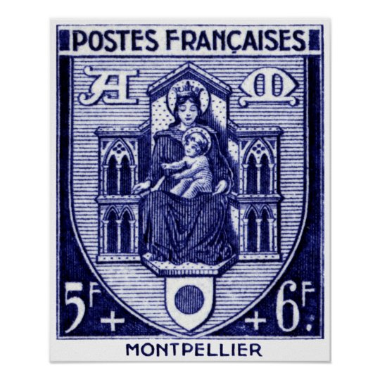 Coat of Arms, Montpellier France Poster
