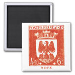 Coat of Arms, Nice France 2 Inch Square Magnet
