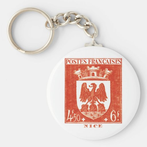 Coat of Arms, Nice France Keychain