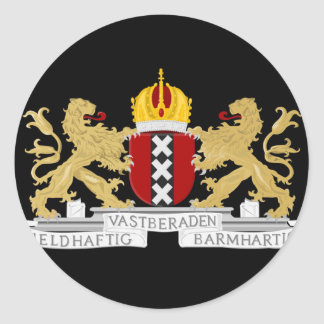 Coat of arms of Amsterdam Classic Round Sticker