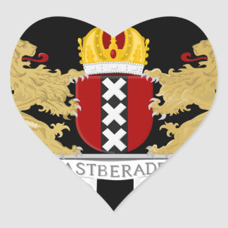 Coat of arms of Amsterdam Heart Sticker