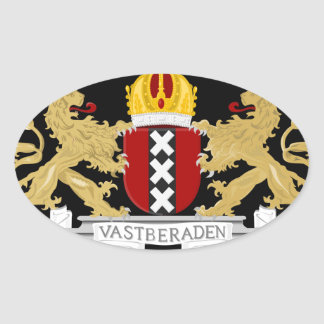 Coat of arms of Amsterdam Oval Sticker