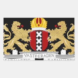 Coat of arms of Amsterdam Rectangular Sticker