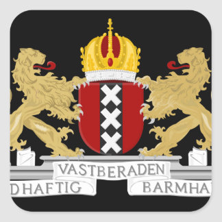 Coat of arms of Amsterdam Square Sticker