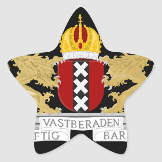 Coat of arms of Amsterdam Star Sticker