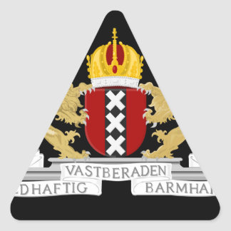 Coat of arms of Amsterdam Triangle Sticker