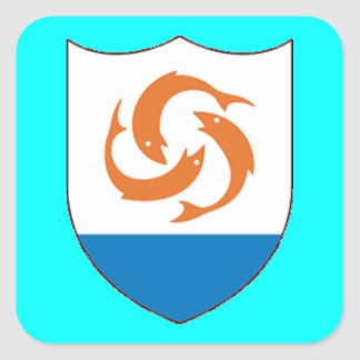 Coat of arms of Anguilla Square Stickers
