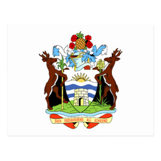 Coat of arms of Antigua and Barbuda Postcards