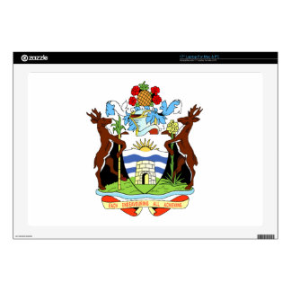 """Coat of arms of Antigua and Barbuda 17"""" Laptop Skin"""