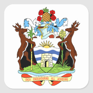 Coat of arms of Antigua and Barbuda Square Sticker