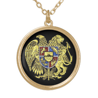 Coat of arms of Armenia Gold Gold Plated Necklace
