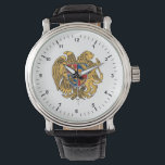 """Coat of arms of Armenia Watch<br><div class=""""desc"""">The current coat of arms was adopted on April 19,  1992,  by the Armenian Supreme Council decision. On June 15,  2006,  the law on the state coat of arms of Armenia was passed by the Armenian Parliament</div>"""