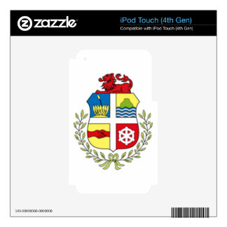 Coat of arms of Aruba iPod Touch 4G Decal