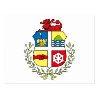 Coat of arms of Aruba Postcard