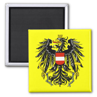 Coat of Arms of Austria 2 Inch Square Magnet