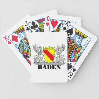 Coat of arms of Baden of Baden seize mi writing ba Bicycle Playing Cards