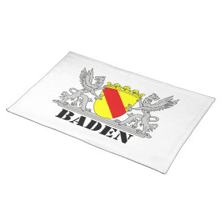 Coat of arms of Baden of Baden seize mi writing ba Cloth Placemat