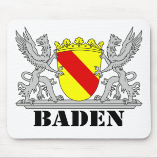 Coat of arms of Baden of Baden seize mi writing ba Mouse Pad