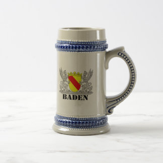 Coat of arms of Baden of Baden seize mi writing ba 18 Oz Beer Stein