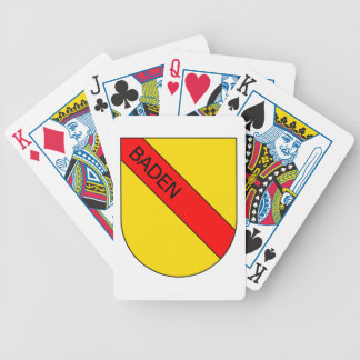 Coat of arms of Baden with writing bathing Bicycle Playing Cards