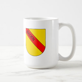 Coat of arms of Baden with writing bathing Classic White Coffee Mug