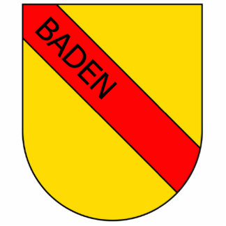 Coat of arms of Baden with writing bathing Statuette