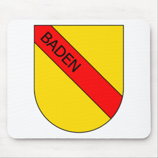 Coat of arms of Baden with writing Mousepads