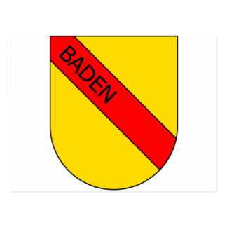 Coat of arms of Baden with writing Postcard