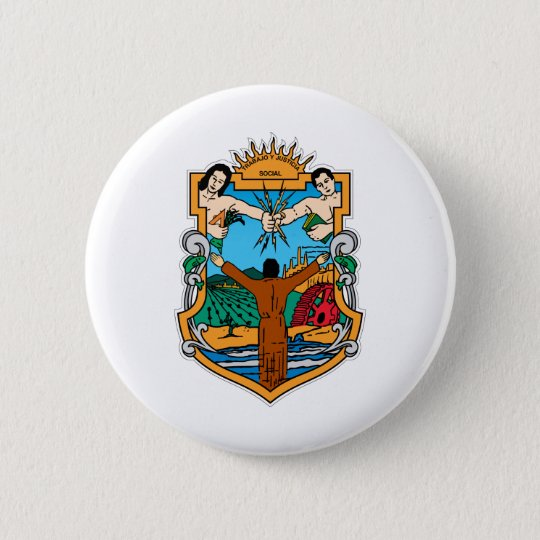 Coat of Arms of Baja California Mexico Official Button