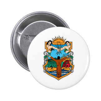 Coat of Arms of Baja California Mexico Official Button