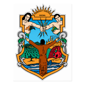 Coat of Arms of Baja California Mexico Official Postcard
