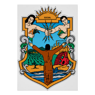 Coat of Arms of Baja California Mexico Official Poster