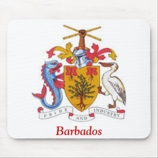 Coat of arms of Barbados Mousepads