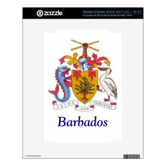 Coat of arms of Barbados NOOK Decals