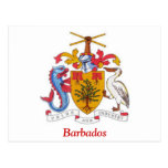 Coat of arms of Barbados Postcard