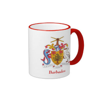 Coat of arms of Barbados Ringer Coffee Mug