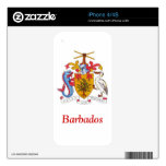 Coat of arms of Barbados Skin For The iPhone 4S