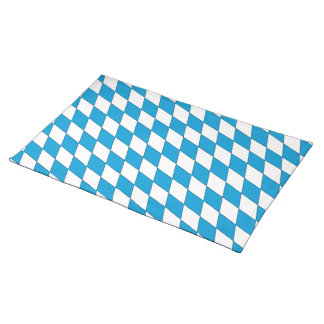 Coat of arms of Bavaria in blue and white Placemat