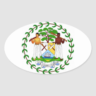Coat of arms of Belize Oval Sticker