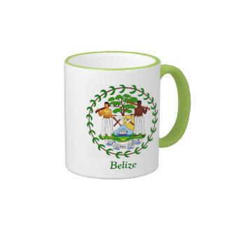 Coat of arms of Belize Ringer Coffee Mug