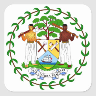 Coat of arms of Belize Square Sticker
