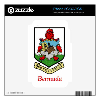 Coat of Arms of Bermuda iPhone 3GS Decals