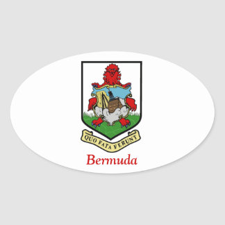 Coat of Arms of Bermuda Oval Sticker