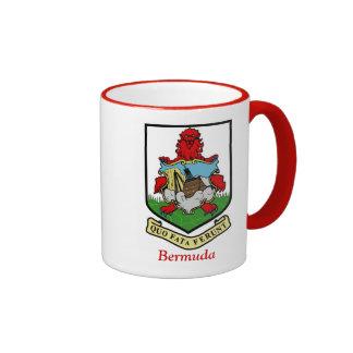 Coat of Arms of Bermuda Ringer Coffee Mug