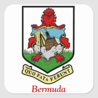 Coat of Arms of Bermuda Square Stickers