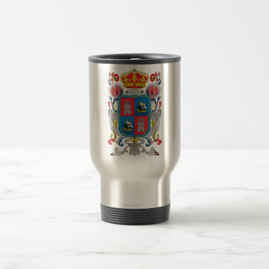 Coat of arms of Campeche Mexico Official Symbol Travel Mug