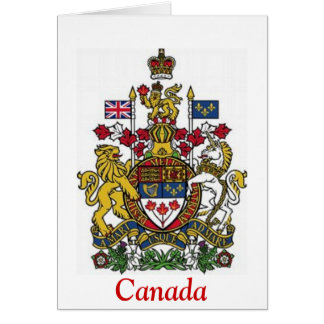 Coat of Arms of Canada Greeting Cards