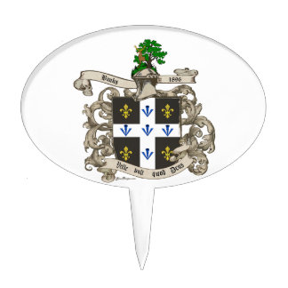 Coat of Arms of Charles F. Banks of Atlanta 1896 Cake Toppers