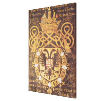 Coat of Arms of Charles V  of the 23rd Chapter Canvas Print